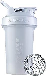 BlenderBottle Classic V2 Shaker Bottle, 20-Ounce, White
