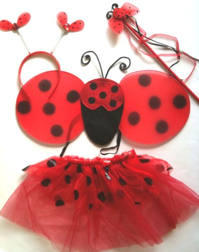 Lady Bug Costume (4pc Set) -