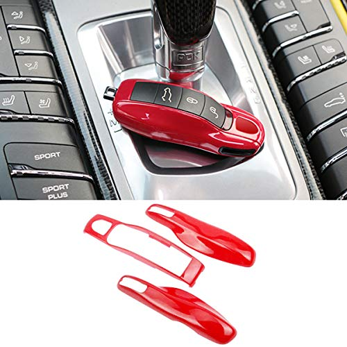 3PCS Remote Key Covers Compatible with Porsche, Jaronx Glossy Key Fob Shell Cover Painted Keyless Entry Skin Protectors (Compatible with:Porsche Boxster Turbo Cayenne Panamera Macan Cayman 911) ()