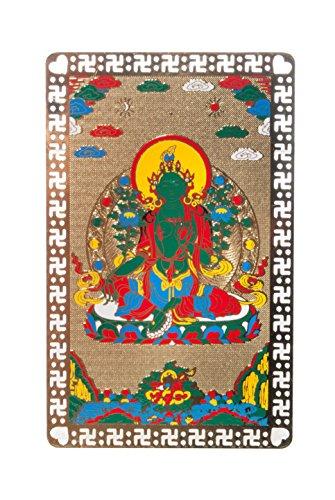 DMtse Green Tara Buddhist Goddess Talisman Card