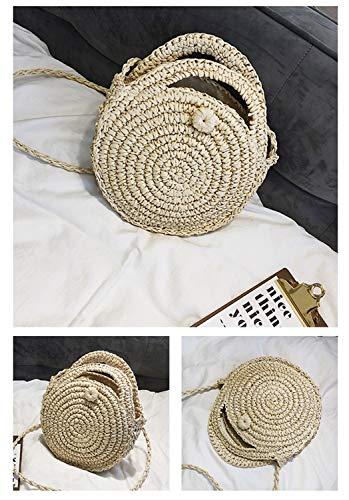 color Da Donna A E Color Beige Borsa Paglia Baachang Tessuto Borsette Spiaggia In Tracolla Coffee Estiva 0gYwn7H