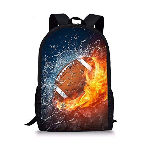 Bigcardesigns Cool Football Design School Backpacks for Children Boys Girls Teenager
