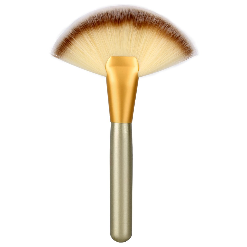 1Pc Portable Slim Fan Shape Powder Concealor Blending Foundation Makeup Brush Neverland Beauty