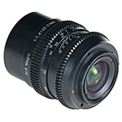 25mm F1.4 CINE Lens - Sony E / FE Mount (Full Frame) Manually controlled diaphragm, 13 aperture blades, Lowest value 16 Filter adapter (included) for 52mm filter