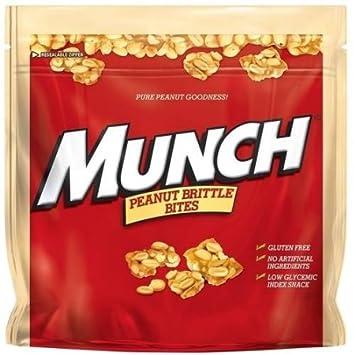 amazon com munch peanut brittle bites 14 8 oz grocery gourmet