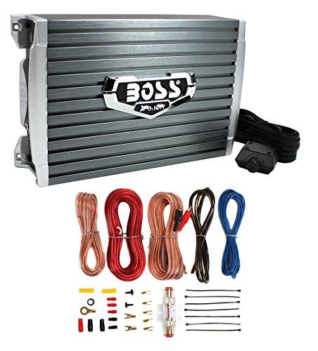 NEW Boss AR1500M 1500 Watt MONO Compact Amplifier + Bass Knob + Amp Wiring Kit