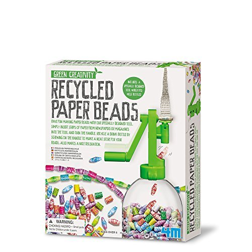 4M Green Creativity Recycled Paper Beads by 4M