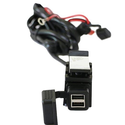 LouiseEvel215 2 Puertos USB Impermeable Moto Moto Manillar ...