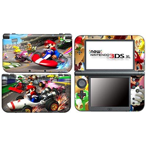MARIO KART 1 Nintendo NEW 3DS XL, N3DS XL Vinyl Skin Decal Sticker + Screen Protectors Nintendo 3ds Skin