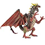 Rich Boxer Premium Dragon Toy, Realistic Looking Dragon Figure,5.7 Inch Mini Dragons Best Kids Toy Gift Party Favors Toy for Boys Kids(Red)