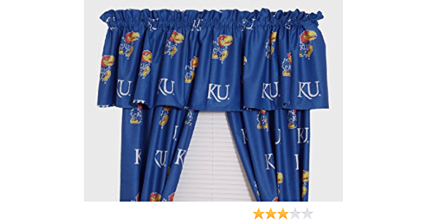 Amazon Com College Covers Kansas Printed Curtain Valance Home Kitchen