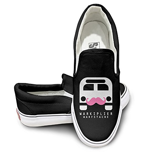 [HYRONE Markiplier Warfstache Unisex Footwall Canvas Shoes Baseball Black] (Young Elvis Presley Costumes)