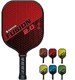 GAMMA Sports 2.0 Pickleball Paddles: Fusion 2.0 Pickleball Rackets - Textured Fiberglass Face