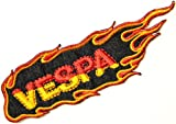 Vespa Flame Piaggio Scooter Lambretta Motorcycle Logo Sign Biker Racing Patch Iron on Applique Embroidered T shirt Costume BY SURAPAN