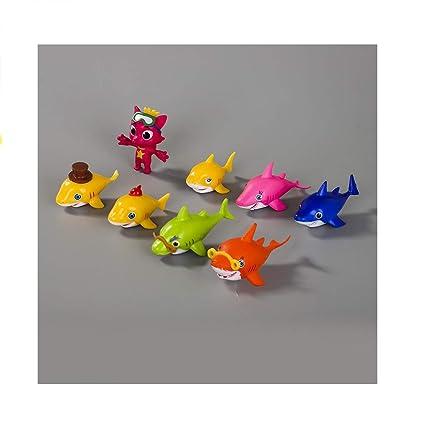 Amazon.com: CheeseandU The Shark Family - Juego de 8 figuras ...