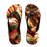Couple Flip Flops 1920x1080-1 Print Chic Sandals Slipper Rubber Non-Slip Beach Thong Slippers