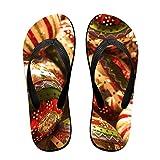 Couple Flip Flops 1920x1080-1 Print Chic Sandals Slipper Rubber Non-Slip Beach Thong Slippers