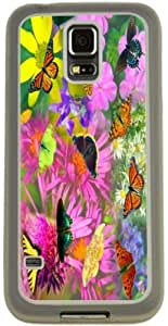 Rikki KnightTM Butterflies Design Design Samsung? Galaxy S5 Case Cover (Clear Rubber with Bumper Protection) for Samsung Galaxy S5 i9600