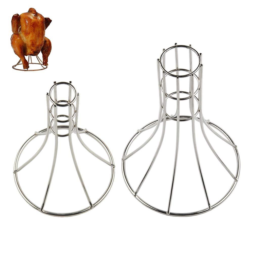 Asador de pollo vertical BBQ de Dracarys, Asador de pollo vertical de acero inoxidable para parrillas para barbacoa de gas o de barbacoa de carbón o ...