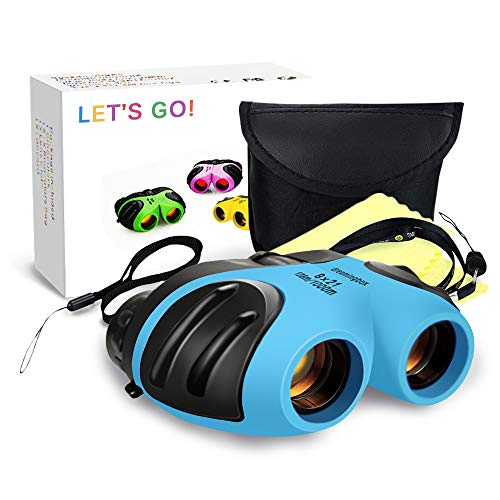 LETS GO! Binoculars for Kids Boys, DIMY Outdoor Toys for 3-12 Year Old Boys New Best Gifts for 3-12 Year Old Boys Christmas Xmas Stocking Stuffers Fillers for Boys Blue DL08