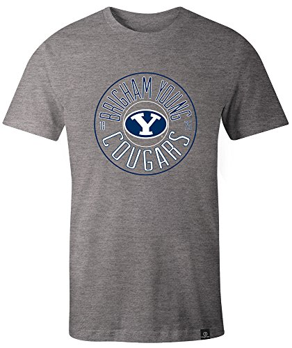 - NCAA Byu Cougars Adult NCAA Circles Image One Everyday Short sleeve T-Shirt, X-Large,HeatherGrey