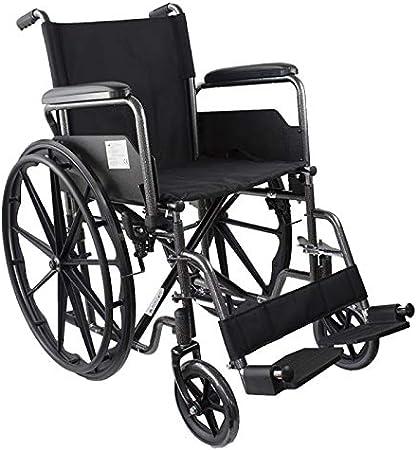 Mobiclinic, modelo S220, Silla de ruedas plegable premium, ortopédica, autopropulsable, para ancianos y minusválidos, aluminio, reposapiés y reposabrazos extraíbles, negro, asiento 40 cm, ultraligera
