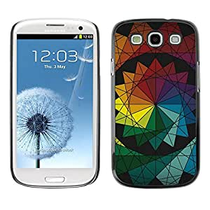 // PHONE CASE GIFT // Duro Estuche protector PC Cáscara Plástico Carcasa Funda Hard Protective Case for Samsung Galaxy S3 / Colores simétricos /