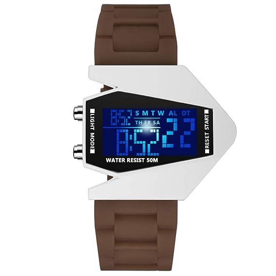 Niños Creativo Digital Reloj, Deportes Relojes Infantiles Impermeable Reloj de Pulsera para Chico y Chica-marrón: Amazon.es: Relojes