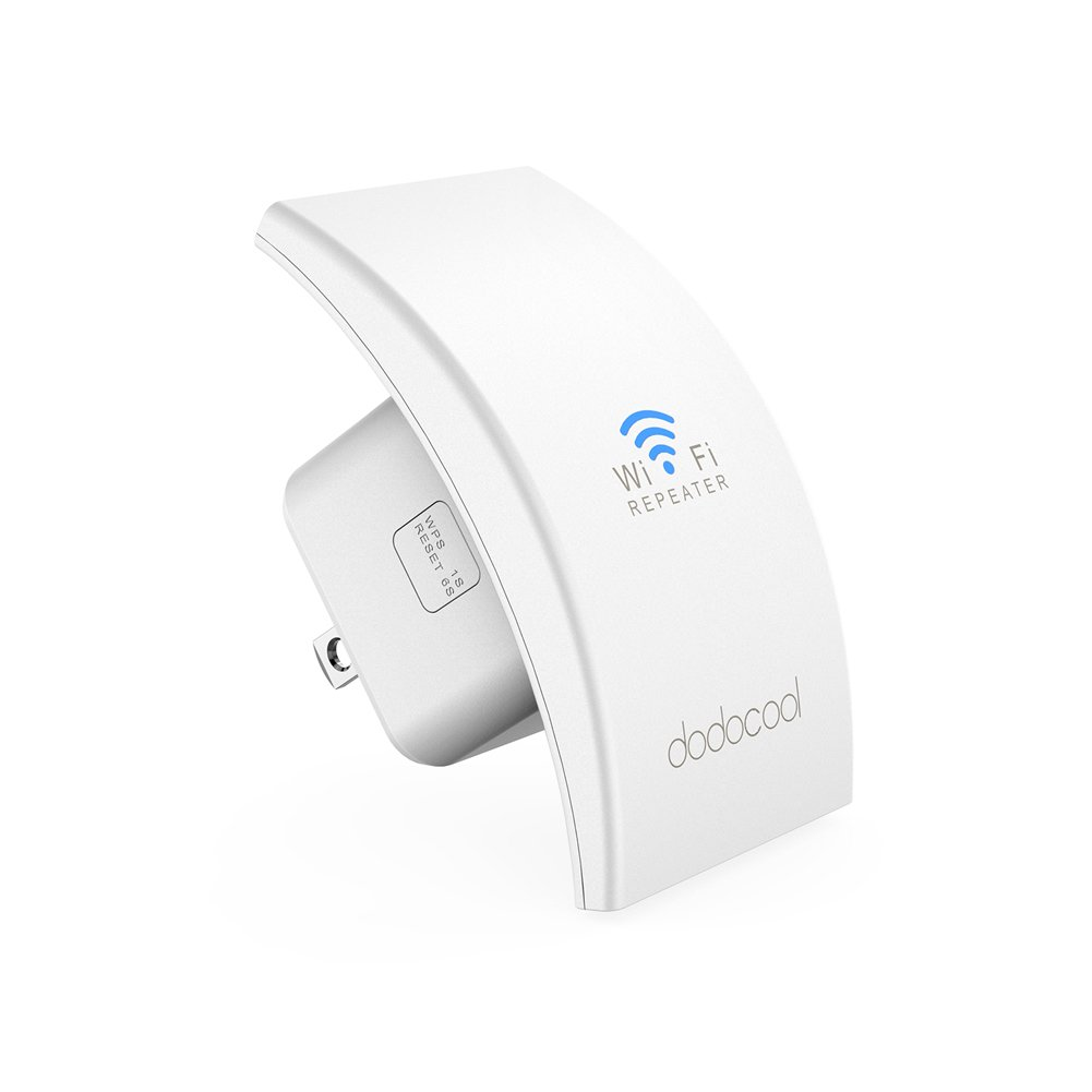 dodocool WiFi Extender Wireless WiFi Booster WiFi Range Extender Dual Band 300Mbps AP/Repeater Mode Wall Plug - White