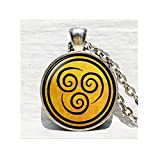 Avatar the Last Airbender Pendant Air Nomad Necklace Glass Cabochon Round Dome necklace bijouterie Movie Jewelry
