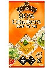 Rakusen's 99% Fat Free Crackers (150g) - Pack of 6