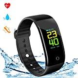 Yeartown Fitness Tracker, Activity Tracker Watch Smart Wristband with Heart Rate Test, IP67 Waterproof Sports Bracelet with Pedometer, Step Counter, Mileage Records, Calorie Monitoring etc For Sale