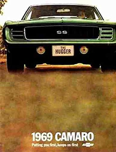 GM CHEVROLET DIVISIONS 1969 CAMARO DEALERSHIP SALES BROCHURE - ADVERTISMENT Includes Rally Sport RS, Super Sport SS Z28 and Convertible CHEVY 69 PDF
