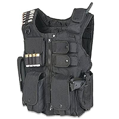 Ultimate Arms Gear Tactical Entry Operation SWAT Police Military Law Enforcement Assault Vest, Right Handed, Black