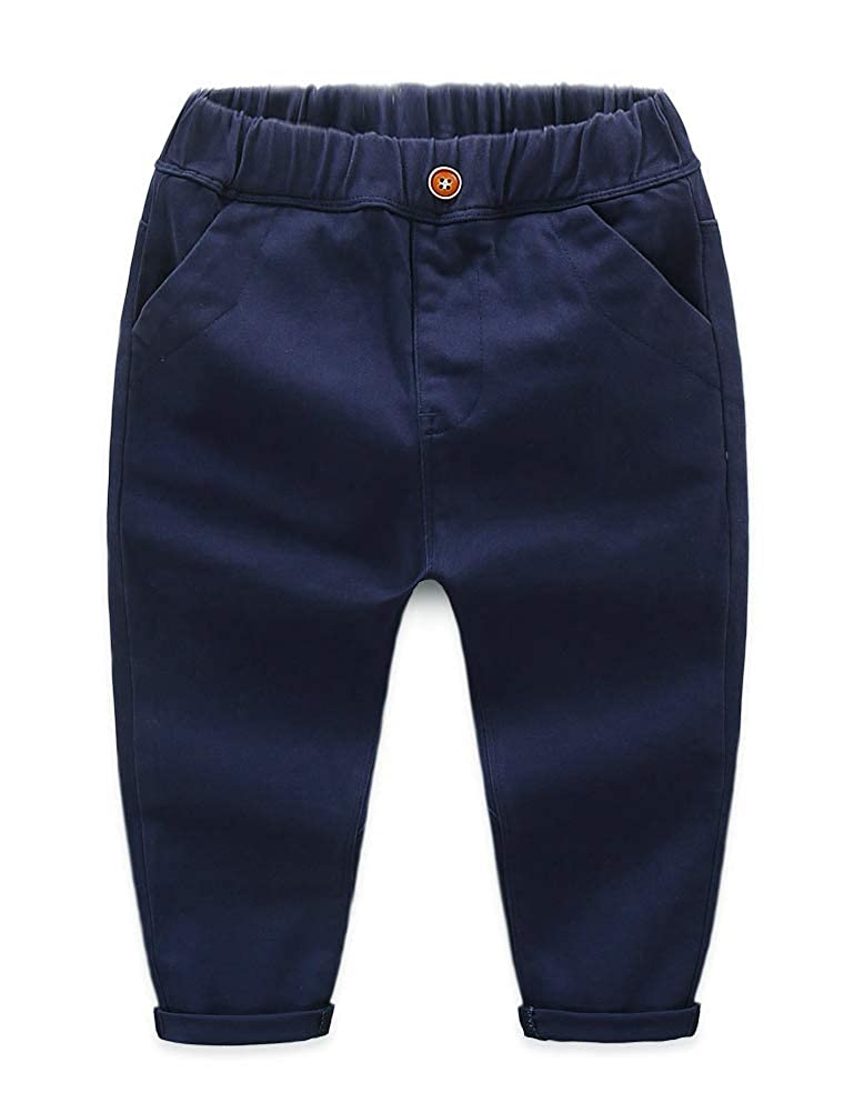 ARAUS Bébé Pantalon Jean Simple Garçon en Coton Décontracté Pantalon Longue Enfants Filles Solide Crayon Leggings Denim Jeans Pantalon 1-7 Ans