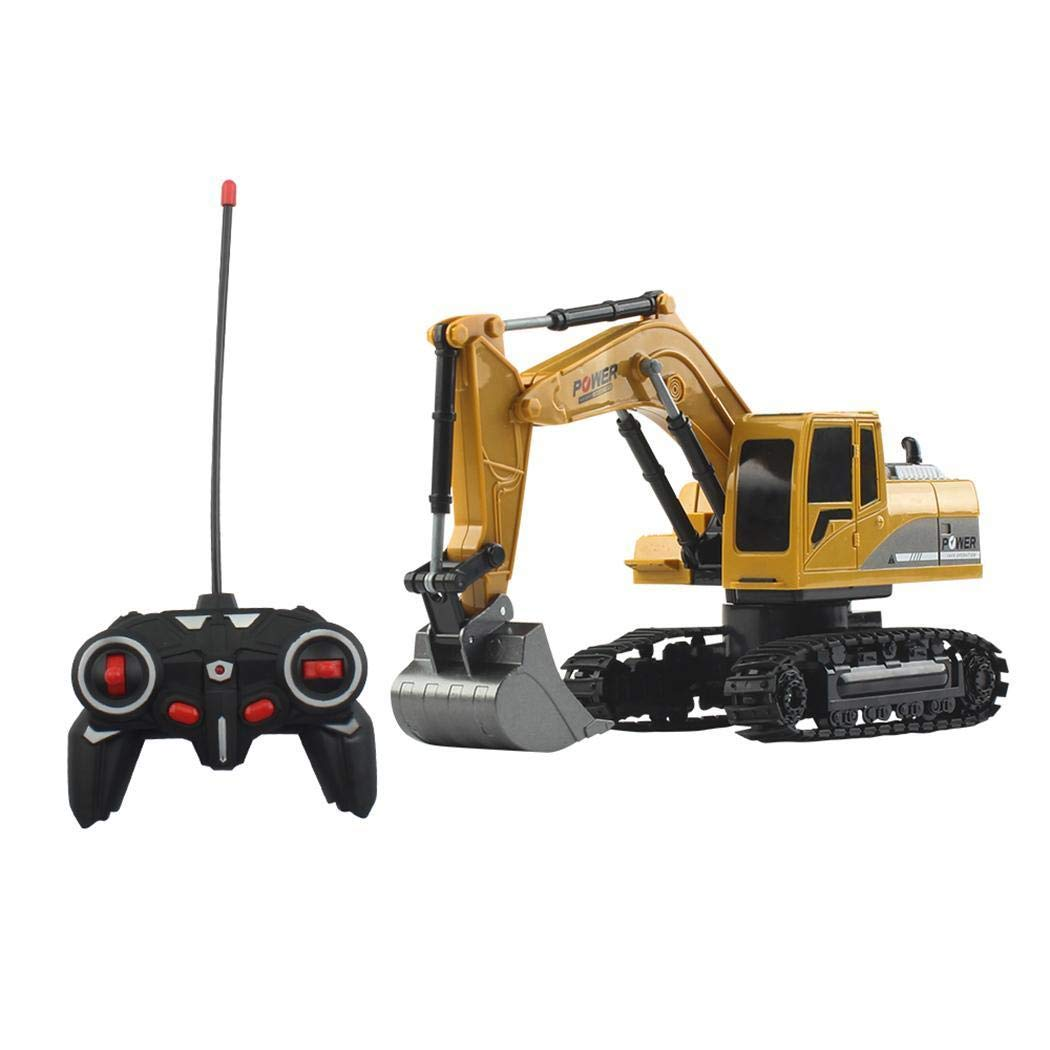 Bealye 1:24 Four-Wheel Drive Crawler Excavator Remote Control Educational Toy with Light