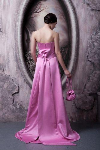 Einfache AbendKleid Entwurfs neue GEORGE Fuchsie Elegante Schleife BRIDE lange mit qxECZwTA