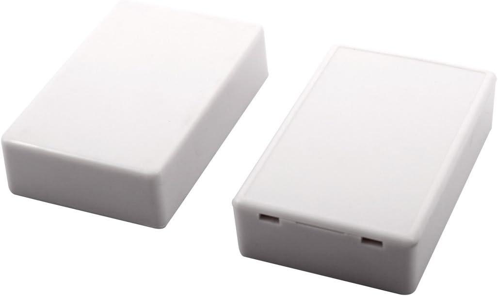 Aexit 70 mm x 45 mm x 18 mm montado en superficie, sellado, caja de conexiones eléctrica, (model: Q9551IIIVII-5388RV) 2 piezas, blanco: Amazon.es: Bricolaje y herramientas