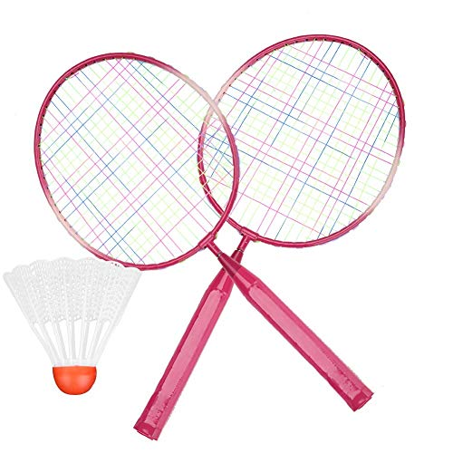 Arnav Koraemon Kids Badminton Racquet Set with Three Plastic Multicolour Shuttles  Red Colour