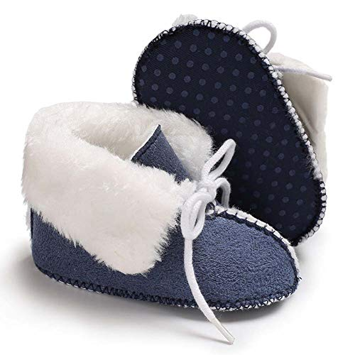 Pictures of Fnnetiana Baby Soft Sole Anti-Slip Winter Blue 4