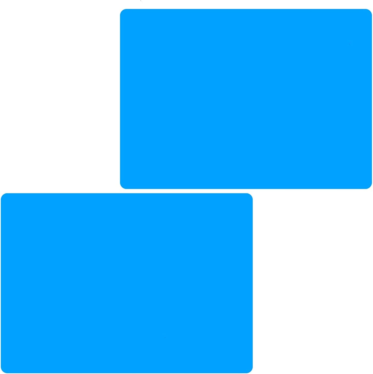 AQUEENLY 2 PCS Silicone Sheet for Crafts Jewelry Casting Molds Mat, Food Grade, Blue, 11.8 inches x 15.7 inches