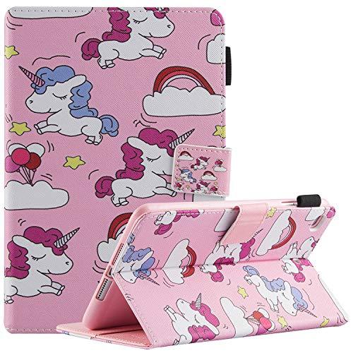 iPad Mini Case, Mini 2/3/4 Case, Dteck Slim Fit [Stylus Slot] Flip Folio Stand PU Leather Wallet Case with Auto Wake/Sleep Smart Protective Cover for Apple iPad Mini 4/3/ 2/1 (Pink Horse)