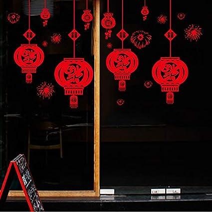 Amazoncom Fascio Wall Sticker Festive Chinese New Year Red