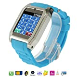 TW-206 Baby Blue, Java / Bluetooth / FM Radio Watch Phone with Camera, 1.5 inch TFT Touch Screen Phone, Support TF Card, Single Card, Quad band, Network: GSM850/900/1800/1900MHz