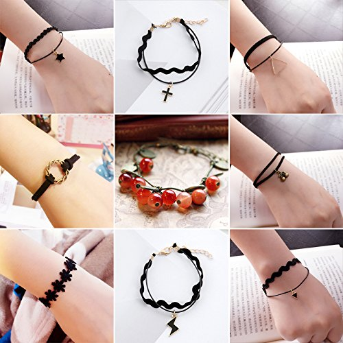 Price comparison product image Retro hand-knitted bracelet twelve constellations Aries student Korean men and women jewelry bracelet personalized jewelry trend
