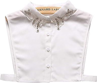 lunji falso cuello mujer desmontable brillantes collar camisa Pull ropa accesorio: Amazon.es: Ropa y accesorios