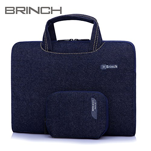Plush Lining - MF e-Mart Super Thin Laptop Bag Portable Case Oxford cloth and woollen plush Lining For 13.3 inch Laptops Color Cowboy Blue BW-185