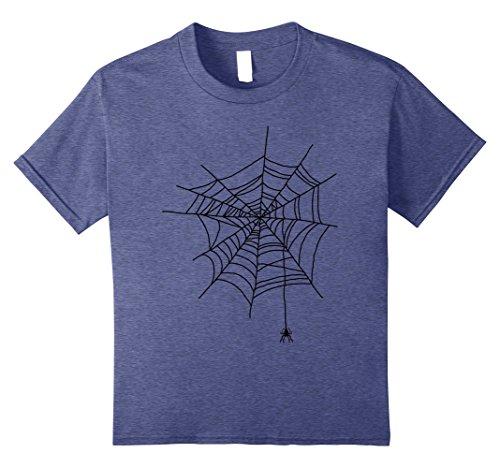 Halloween Spider Web Ideas (Kids Spider Web Halloween Funny Gift Idea Cobweb Costume T Shirt 8 Heather Blue)
