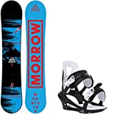 Morrow Mountain Wide 163 Mens Snowboard + Chamonix Savoy Bindings - Fits US Mens Boots Sized: 10,11,12,13