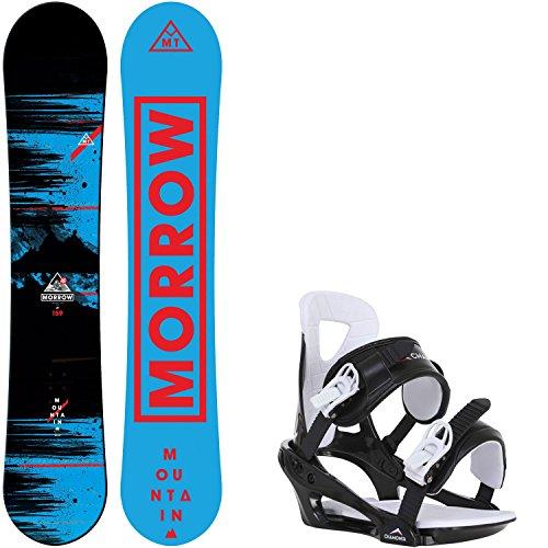 Morrow Mountain Wide 163 Mens Snowboard + Chamonix Savoy Bindings - Fits US Mens Boots Sized: 10,11,12,13 Rocker Wide Snowboard